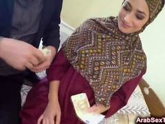 Lonely Arab babe gets her hairy pussy drilled by big cock