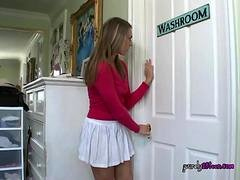 College Babe Gets Freaky With Hung Landlord