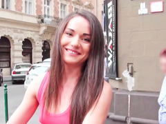 Sexy girlfriend is having anal sex in public here