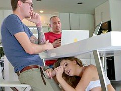 Alexis Adams seduces her boyfriend's younger brother