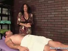 Cougar gives the best massage to client