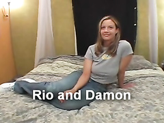 Huge panties 2the side coed huge-chested rip up rio