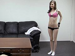 Sweet Kaydence in backroom casting