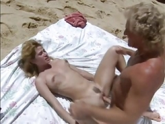get down and dirty at beach