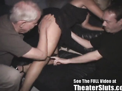 Molten milf gang-banged in a tampa porn theater