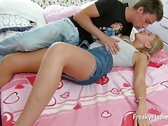 Homework brings tiny teen bitch a cock in her lovely small