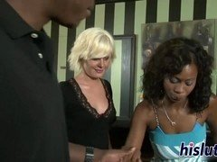 Hot interracial foursome starring Heidi and Kelly