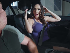 Stepson gets to fuck his horny stepmom in the garage