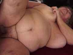 Fat old woman with saggy tits is getting penetrated deeply