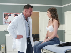 Riley Reid visits the doctor for doggystyle sex