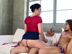 A couple of fine women that love cock are doing hot things to a cock