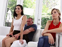 Dirty step daddies can't resist their new daughters