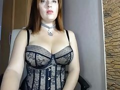 Horny MILF dressed in lace