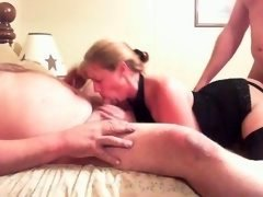 weighty lad and furthermore whore wife play with stranger