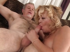 Grand additionallyma takes a heavyweight love pole and additionally cum in her mouth