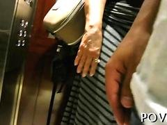 Blonde honey picked up and fucked in a hotel room