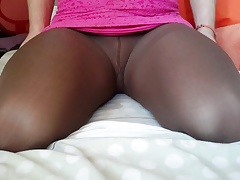 Ts Kalinka in brown pantyhose