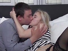 Horny mature mom fucking young son