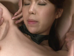 A hardcore chick with a sexy body is getting fucked hard by several men