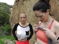 Hottest Hiking 3some!Alex Legend Fucks SarahShevon PennyPax