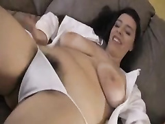Plumper with a unshaved pubic hair jacks