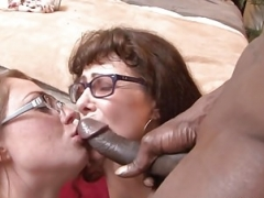Sisters With Glasses BBC 3some Amazing Cumshot Ending