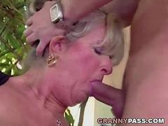 Busty Mature Takes Young Dick