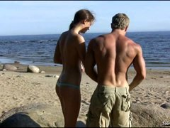 Teen Banged At The Beach