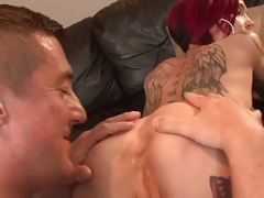 Tattoo Broad Anna Bell Peaks Spreads Bum To Get Licked!