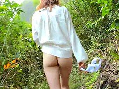 young girls getting nude in nature