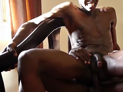 Gay Tribal rawsex with African dude