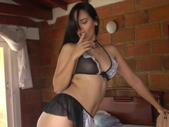 Latina maid lets him have her pussy and ass from behind