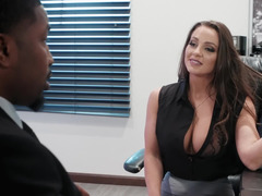 Banging the slutty new corporate VP with his black cock