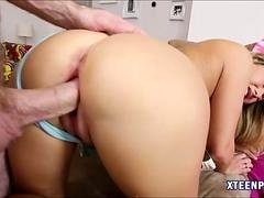 Carter Cruise receives jizz in her pussy after getting boned