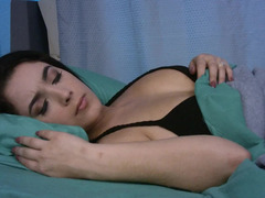 Hot raven haired slut is placing her wet pussy on a large dick