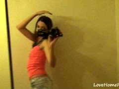 Innocent teen displays her beautiful body on camera