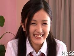 Japanese schoolgirl with a lovely cunt wants some hardcore banging