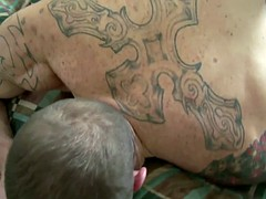 British tattooed stud fucked by pal Jock