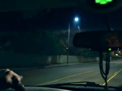 Squirting babe rough railed in uber taxi