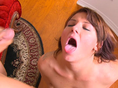 Casey Cumz deepthroats the dick that cums on her face