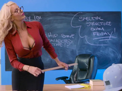 Young student boy can penetrate juicy vagina of voluptuous teacher