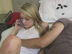 Blonde Allie gets a warm pussy Creampie from her lover