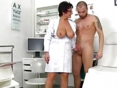 Curvy woman professor Ginger has sex with a student