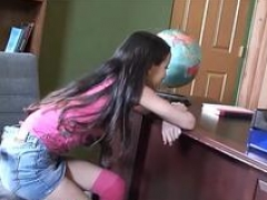 Undersized little asian 18 year old school babe gets tight vag broken and furthermore facial