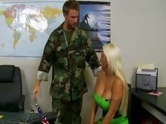 Holly Has Fun With Army Officer