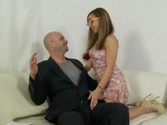 Cute young nympho wants the older guy to fuck her