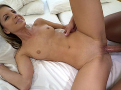 Wet cunt of cute slut Gina Gerson pumped by a hard cock
