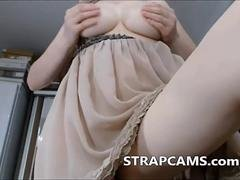 Sexy milf with big natural tits on webcam