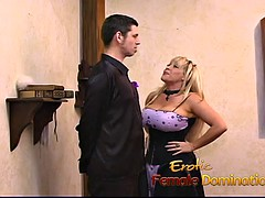 horny stud loves to have fun with a busty blonde frizzy