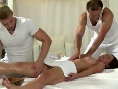 Massage performer blows off phallus while fucked and additionally cant get more than enough